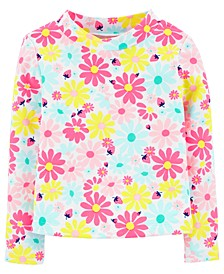 Toddler Girls Floral Rash Guard
