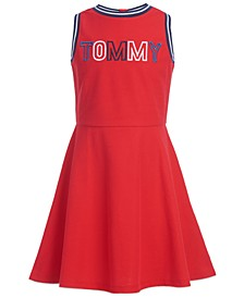 Big Girls Embroidered Logo Dress