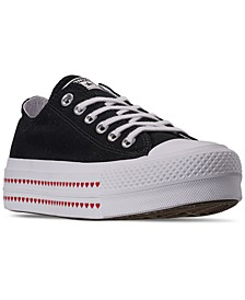 Women's Chuck Taylor All Star Lift Love Fearlessly Low Top Casual Sneakers from Finish Line