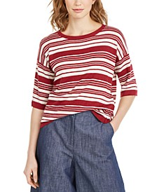 Striped Flax Linen Top