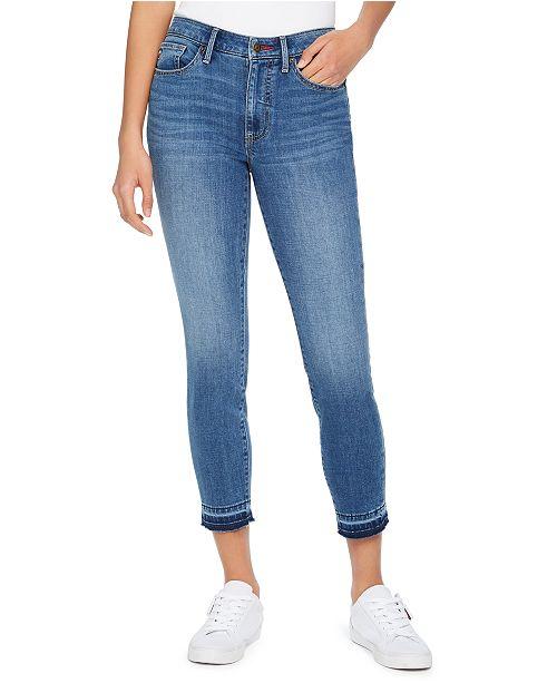 Tommy Hilfiger Released-Hem Cropped Skinny Jeans