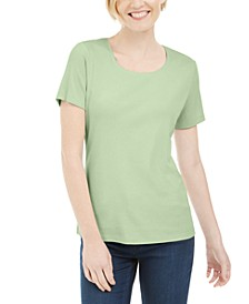 Short Sleeve Scoop Neck Top, Created for Macy's