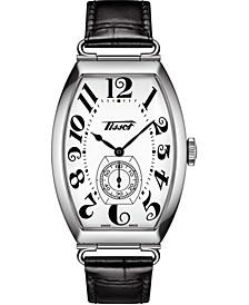 Unisex Swiss Automatic Heritage Porto Black Leather Strap Watch 42mm
