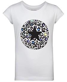 Big Girls Leopard Logo Cotton T-Shirt