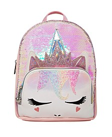 Toddler, Little and Big Kids Queen Miss Gwen Sequins Unicorn Mini Backpack