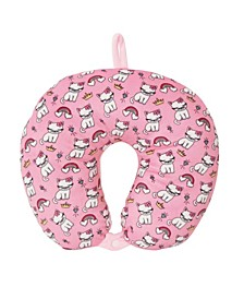 Toddler, Little and Big Kids Bella Kitty Bling Print Neck Pillow