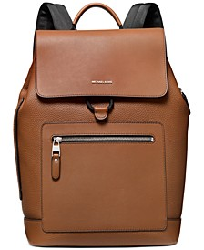 Men's Hudson Leather Flap Backpack