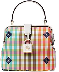 The Remedy Bella Plaid Top Handle Bag