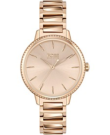 Women's Signature Carnation Gold-Tone Stainless Steel Bracelet Watch 34mm
