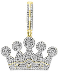 Diamond Crown Pendant (1 ct. t.w.) in 10k Gold
