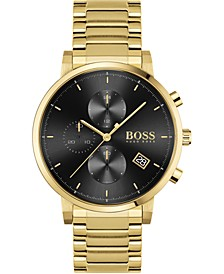 Men's Chronograph Integrity Gold-Tone Stainless Steel Bracelet Watch 43mm