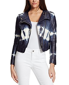 Dan Tie-Dyed Faux-Leather Jacket
