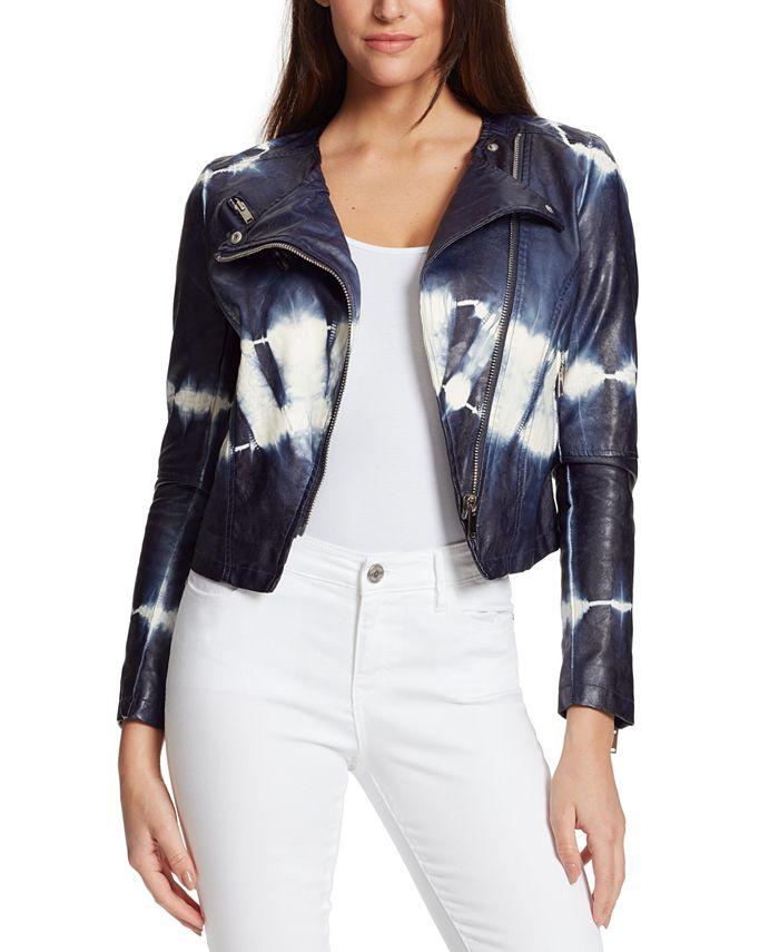 Skinnygirl - Dan Tie-Dyed Faux-Leather Jacket