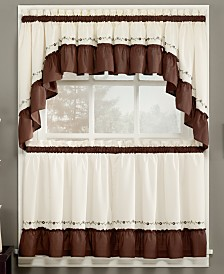 closeout chf jayden tiers window treatment collection. Interior Design Ideas. Home Design Ideas