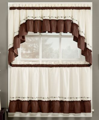 CLOSEOUT! CHF Jayden Tiers Window Treatment Collection