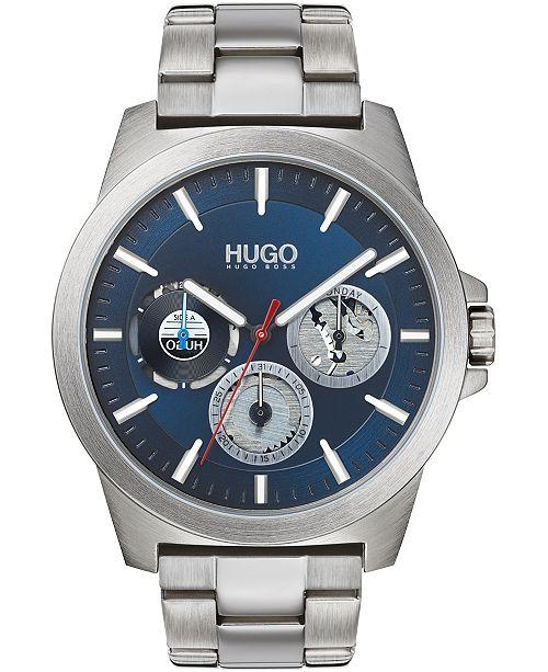 HUGO Men's Chronograph #TWIST Stainless Steel Bracelet Watch 44mm