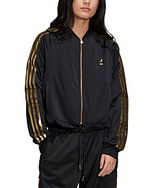Women's Metallic-Accent Track Jacket