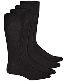 Men's 4-Pk. Textured Socks, Created for Macy's