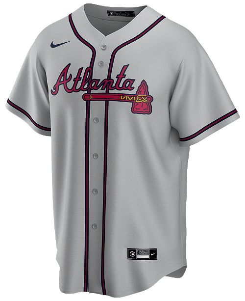 Nike Men's Atlanta Braves Official Blank Replica Jersey