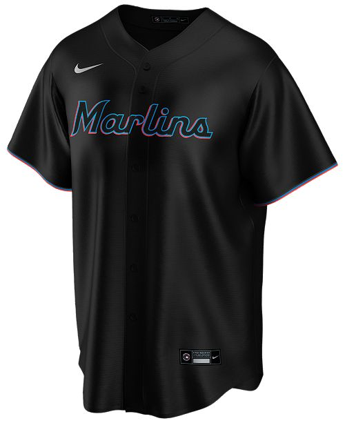 Nike Men's Miami Marlins Official Blank Replica Jersey