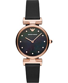 Women's Reversible Black & Brown Leather Strap Watch 32mm