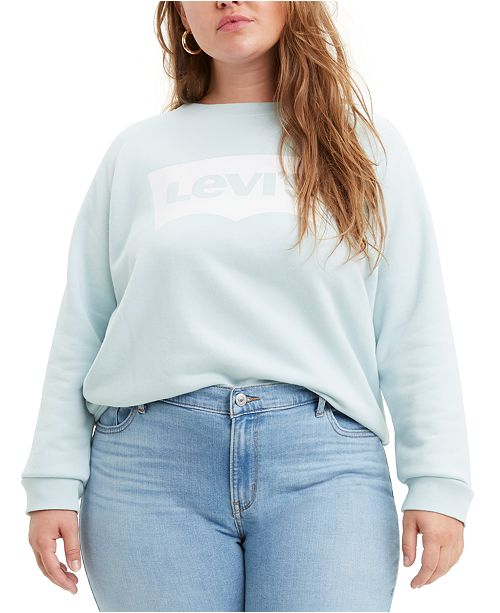 Levi's Trendy Plus Size Cotton Fleece Logo Sweatshirt