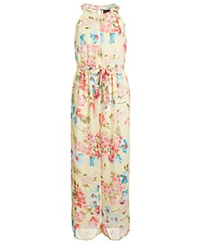 Big Girls Floral-Print Chiffon Jumpsuit