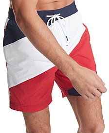 "Men's Global Strike 7"" Swim Trunks, Created for Macy's"
