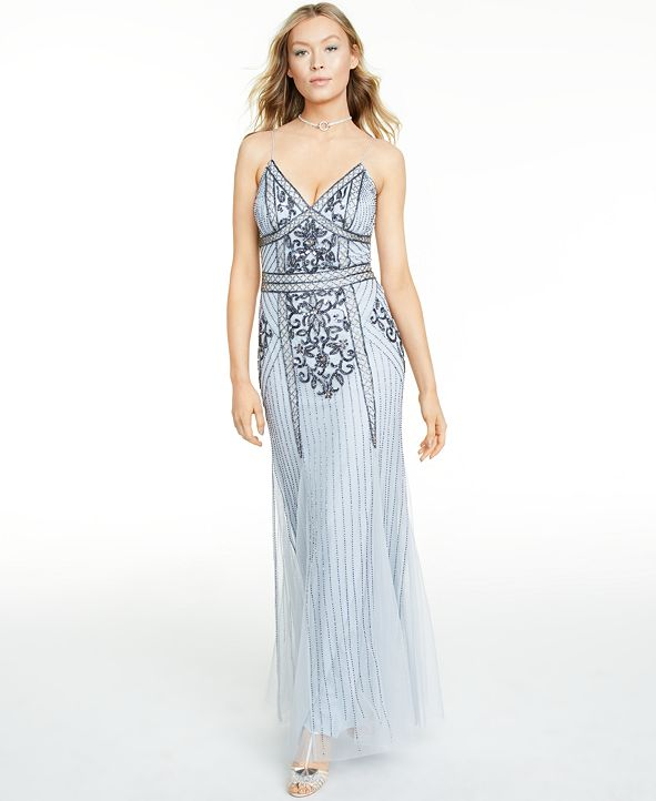 Jump Juniors' Slim Beaded Gown