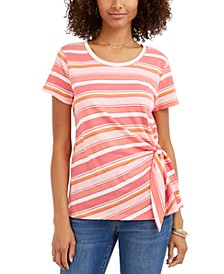 Striped Tie-Side Top, Created for Macy's