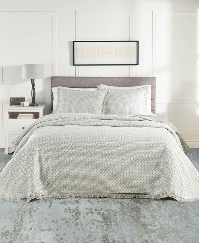 Nouvelle Home - Woven Jacquard Bedspread Set Twin Gray/White