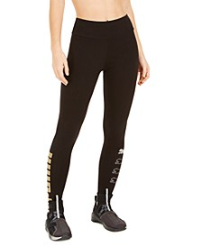 Women's Metallic-Logo Leggings