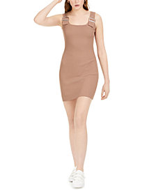 Bar III Buckle-Detail Bodycon Sweater Dress, Created for Macy's