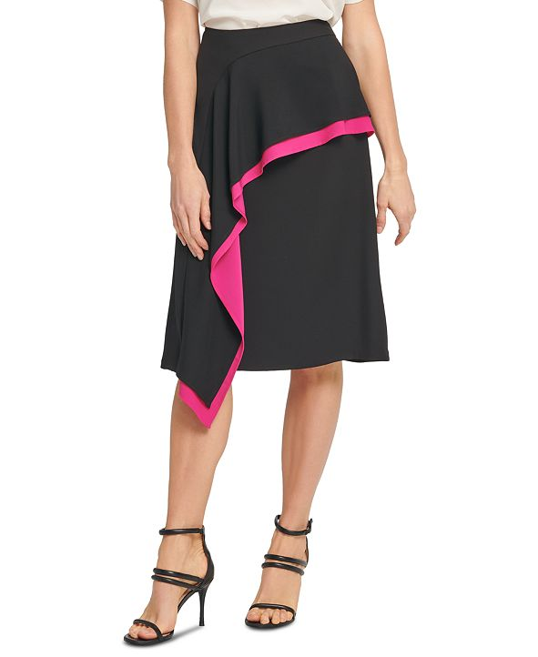 DKNY Asymmetrical Ruffled Skirt