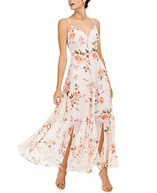 Floral-Print Sleeveless Maxi Dress, Created For Macy's