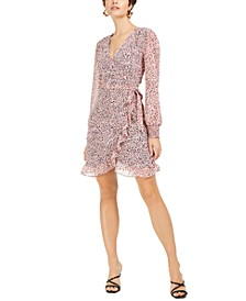Chiffon Ruffle Wrap Mini Dress, Created for Macy's