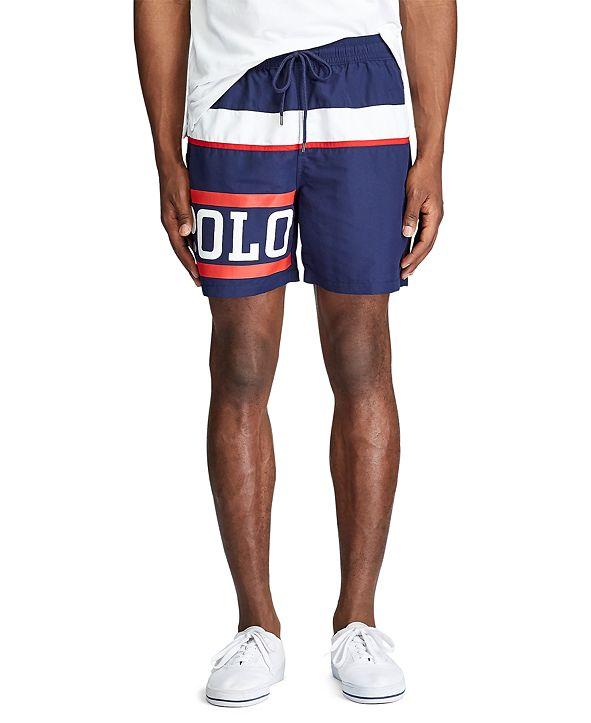 "Polo Ralph Lauren Men's 5.5"" Inch Logo Traveler Swim Trunk"