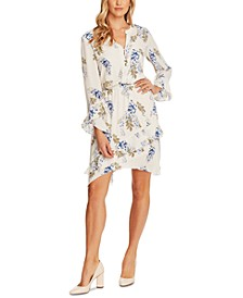 Weeping Willows Printed Ruffled Dress
