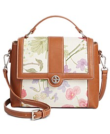 Botanical Linen Top Handle Satchel, Created for Macy's