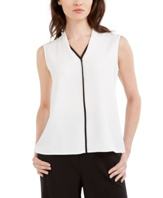 Petite Sleeveless Colorblocked Blouse