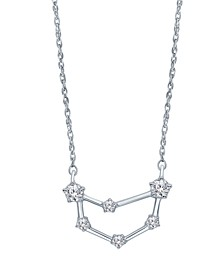 "Diamond (1/5 ct. t.w.) Constellation Pendant 18"" Necklace in Sterling Silver"