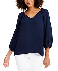 Tamarin Pleated-Shoulder Top