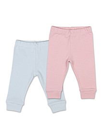 Baby Girl Tiny Blooms Pants, Pack of 2