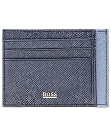 HUGO Men's Signature Leather Card Case