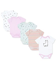 Earth by Baby Girls 5-Pk. Organic Cotton Character Bodysuits