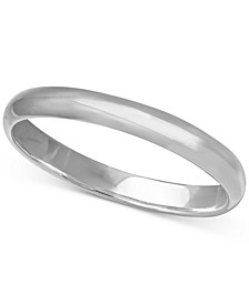 Polished Band in Sterling Silver, Created for Macy's