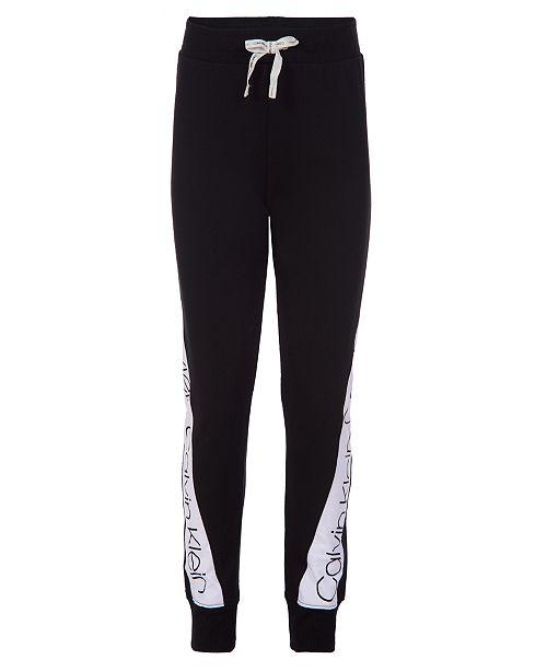 Calvin Klein Big Girls Logo Jogger Pants