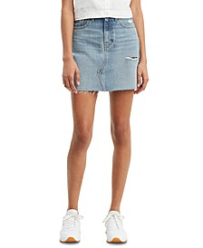 Women's Cotton Denim Mini Skirt