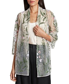 Embroidered Jacket & Camisole Top