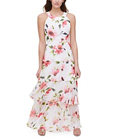 Halter-Neck Tiered Maxi Dress, Created for Macy's